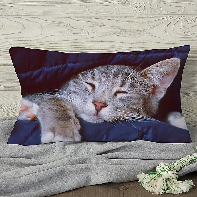 Alternate image 1 for Pet Photo Memories Personalized Throw Pillow