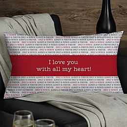 Love You This Much Personalized Romantic Throw Pillow