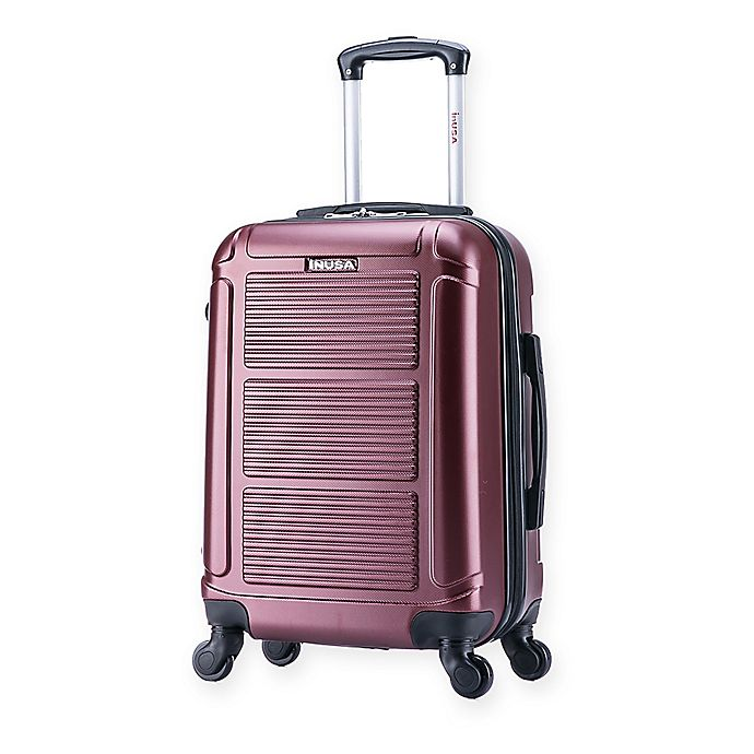 Alternate image 1 for InUSA Pilot 20-Inch Hardside Spinner Carry On Luggage in Wine