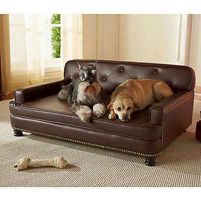 Enchanted Home Pet Library Pet Sofa in Brown Pebble