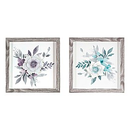 Watercolor Flowers with Paper Flower Framed Wall Art