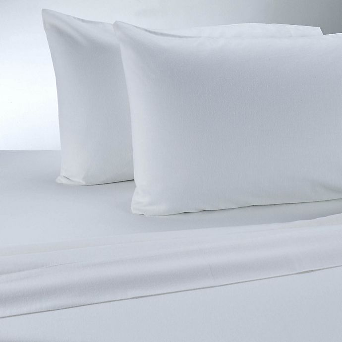 Alternate image 1 for Therapedic® 100% Ring Spun Cotton Flannel Solid Sheet Set