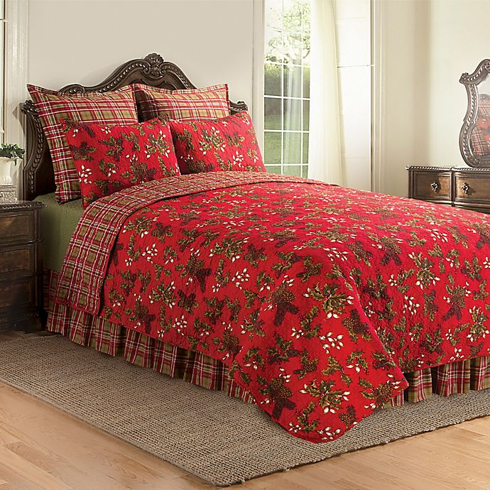Alternate image 1 for Kellyn Reversible Twin Quilt in Red