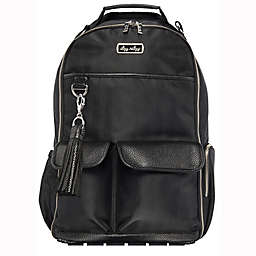 Itzy Ritzy® Boss Diaper Bag Backpack in Black Herringbone