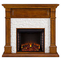 Southern Enterprises Jayben Media Faux Stone Fireplace