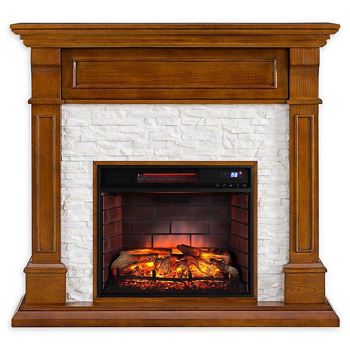 Alternate image 1 for Southern Enterprises Jayben Media Infrared Fireplace in Dark Sienna