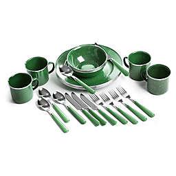 Stansport® 24-Piece Tableware Set in Green