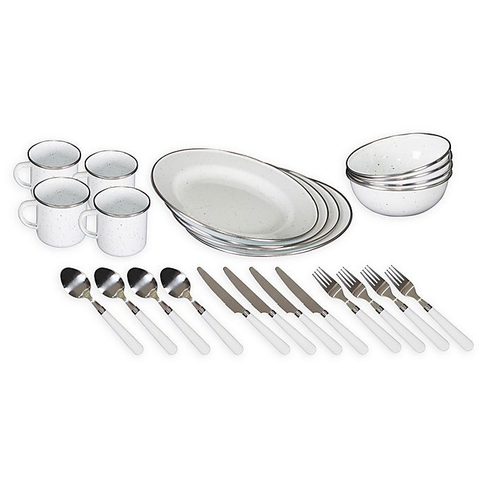 Alternate image 1 for Stansport® 24-Piece Tableware Set in White