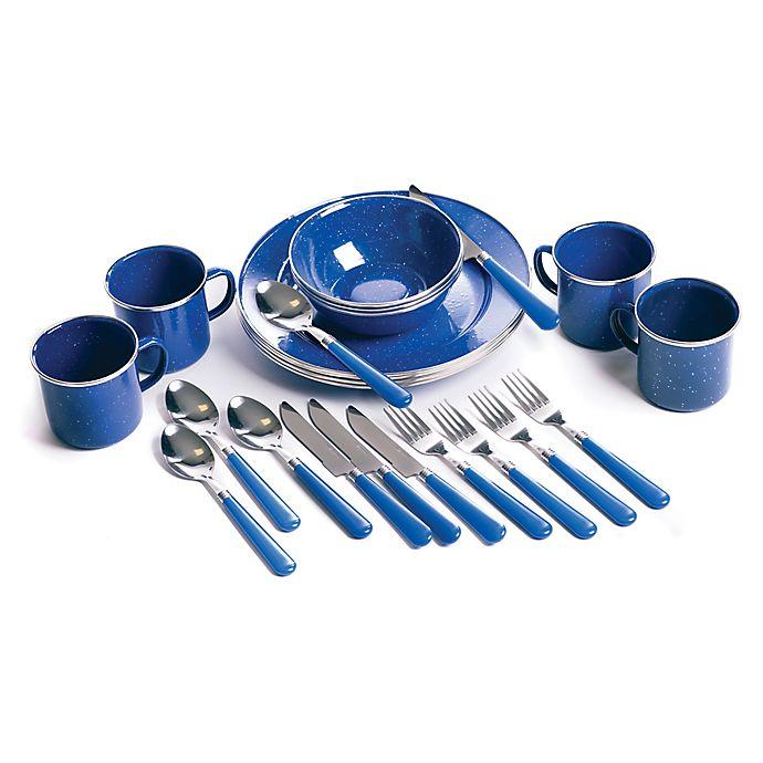 Alternate image 1 for Stansport® 24-Piece Tableware Set in Blue