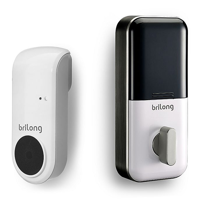 Alternate image 1 for Brilong® Bluetooth Smart Lock and Gateway Bundled Set in White