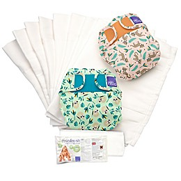 Bambino Mio Miosolo Size 0-12M 61-Piece Rainforest Cloth Diaper Set