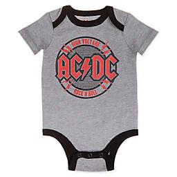 Epic AC/DC Short Sleeve Bodysuit in Grey