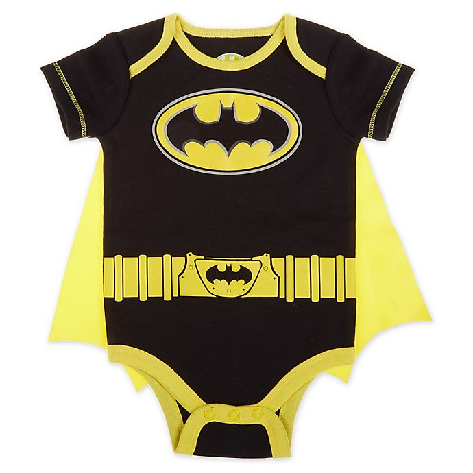 Alternate image 1 for Warner Brothers® Batman® Size 0-3M Caped Bodysuit in Black