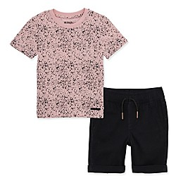 Hudson Kids 2-Piece Paint Splatter Shorts Set