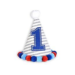 Mud Pie® First Birthday Pom Pom Hat in Blue
