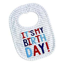 Mud Pie® Stripe Birthday Bib in Grey
