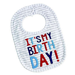 Mud Pie® Stripe Birthday Bib in Grey