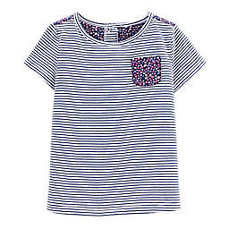 carter's® Navy Stripe Short Sleeve Top