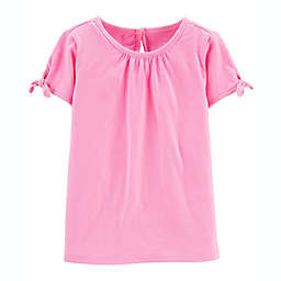 carter's® Bow Sleeve Top in Pink