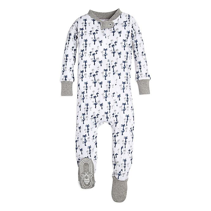 Alternate image 1 for Burt's Bees Baby® Breezy Palm Footie in White