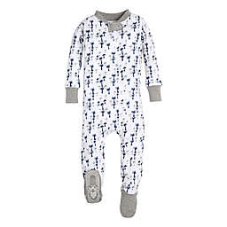 Burt's Bees Baby® Breezy Palm Footie in White
