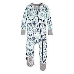 Burt's Bees Baby® Tropical Season Footie in Green
