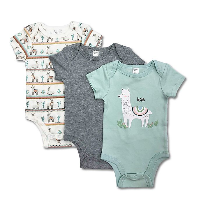 Alternate image 1 for 3-Pack Hola Llama Bodysuits