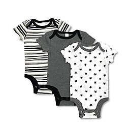 Modern Baby® 3-Pack Grey Stars Bodysuits
