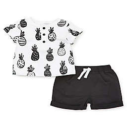 Focus Kids™ Pineapple 2-Piece Shorts Set in White