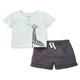 Focus Kids™ Giraffe 2-Piece Shorts Set in Green