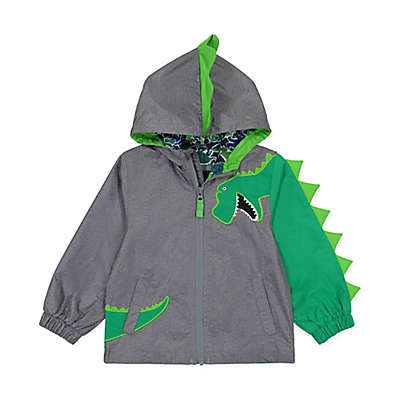 London Fog® Dino Hooded Jacket in Grey/Green