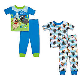 Disney® 4-Piece Puppy Dog Pals Pajama Set in Blue/White