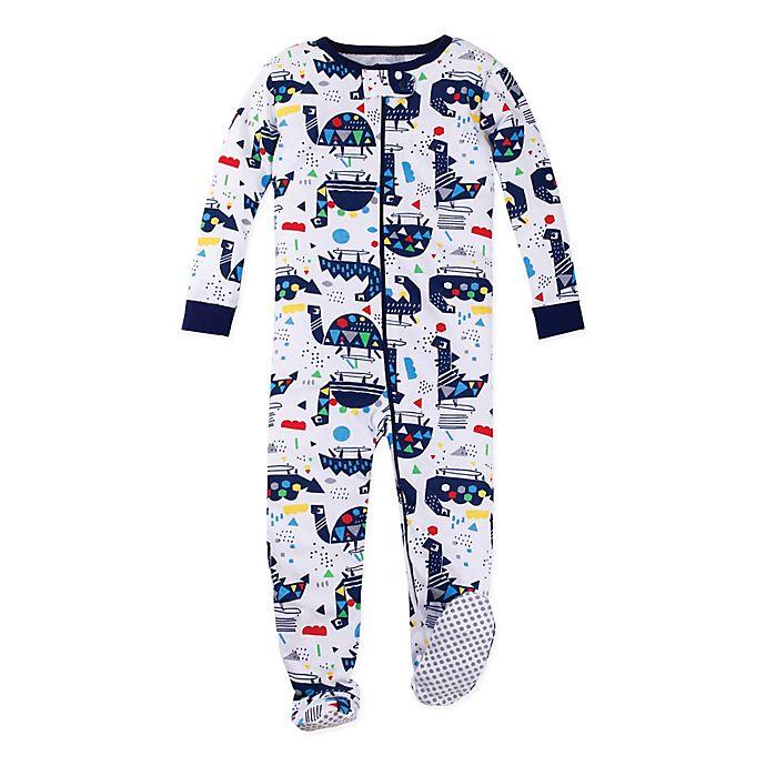 Alternate image 1 for Lamaze® Size 24M Organic Cotton Dinosaur Pajama in White