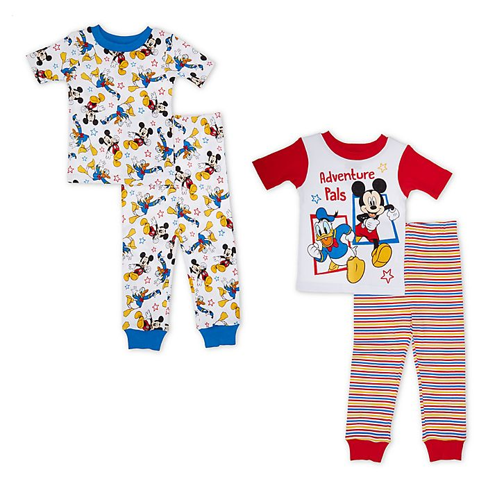 Alternate image 1 for Disney® 4-Piece Mickey Mouse Adventure Pals Pajama Set