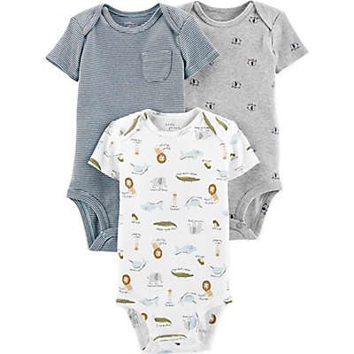 Little Planet™ Organic by carter's® 3-Pack Animal Bodysuits