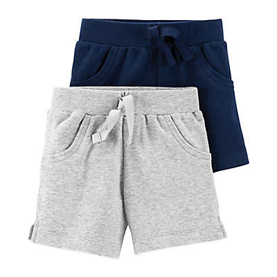 Little Planet Organic® 2-Pack Shorts in Navy and Grey