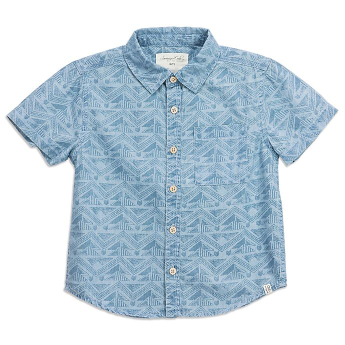Alternate image 1 for Sovereign Code® Geometric Chambray Shirt in Blue