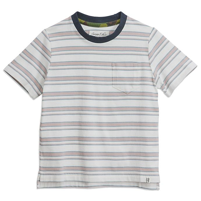 Alternate image 1 for Sovereign Code® Striped T-Shirt in Pink/White