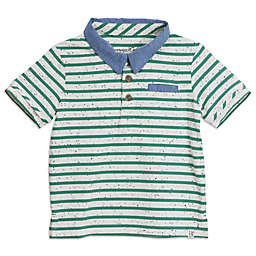 Sovereign Code™ Stripe Textured Polo Shirt in Mint