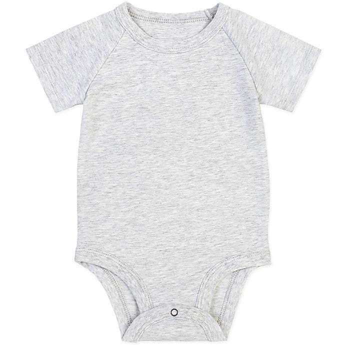 Alternate image 1 for Petit Lem® Organic Cotton Bodysuit in Heather Grey