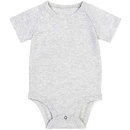 Petit Lem® Newborn Organic Cotton Bodysuit in Heather Grey