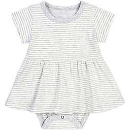Petit Lem™ Striped Bodysuit Dress in Light Grey