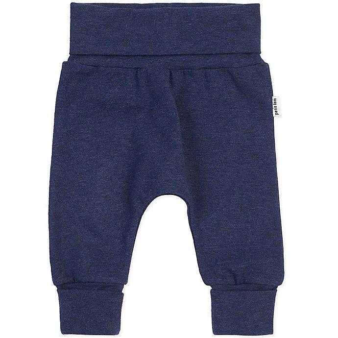 Alternate image 1 for Petit Lem® Organic Cotton Grow Pant in Heather Navy