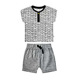 Petit Lem® Geometric Print 2-Piece Tee and Short Set
