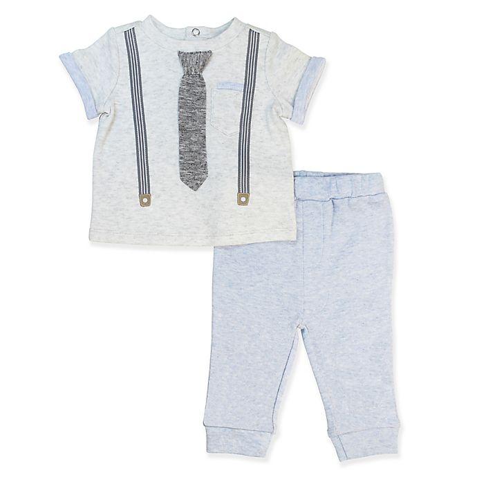 Alternate image 1 for Clasix Beginnings® Size 9M 2-Piece Mock Suspender Set in Grey