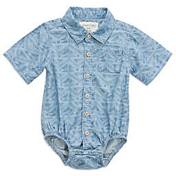 Sovereign Code® Geometric Chambray Bodysuit in Blue