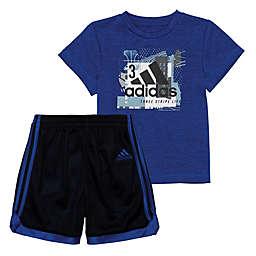 Adidas® 2-Piece Striker Shorts Set in Royal Blue