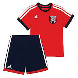 Adidas® 2-Piece Soccer Shorts and Top Set in Red