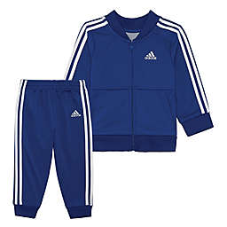 adidas® 2-Piece Home Run Jacket and Pant Set in Royal Blue/White