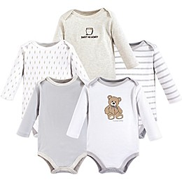Hudson Baby® 5-Pack Bear Long Sleeve Bodysuits